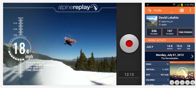 App Alpine Replay