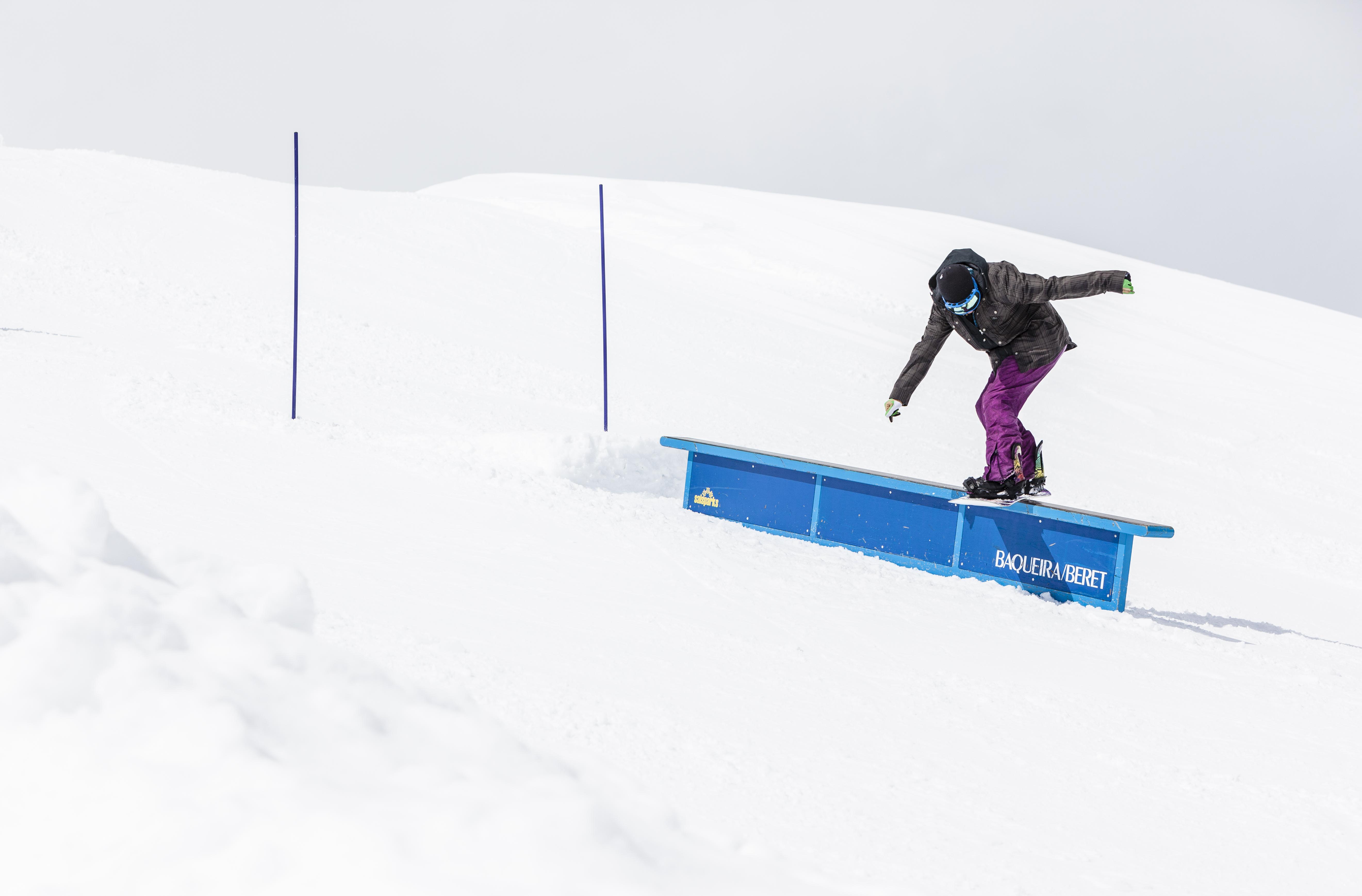 Rider a l'snowpark de Baqueira Beret/Marc Gasch