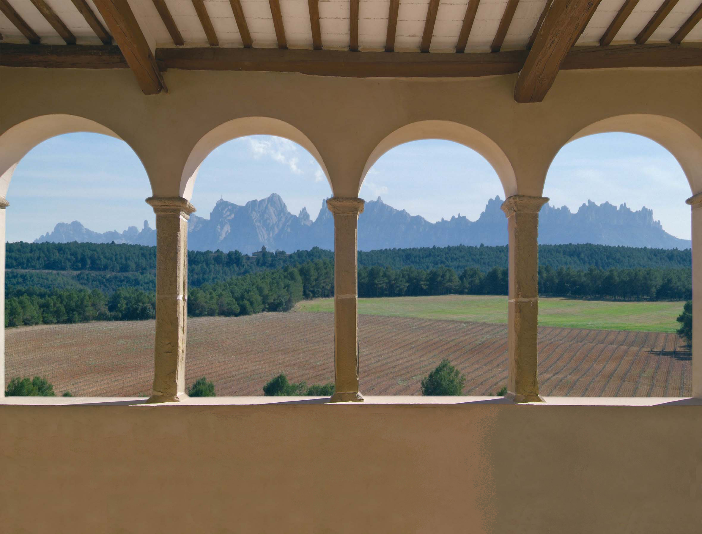 Vistas de Montserrat desde Oller del Mas