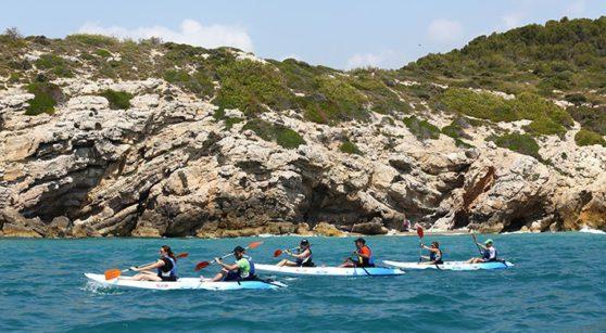 La llibertat de navegar en 'open kayak'